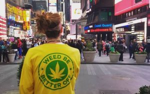 Weed Be Better Off Supporter in the city