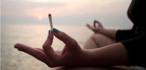 Cannabis Meditation on the beach