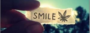 Note to smile marijuana leaf