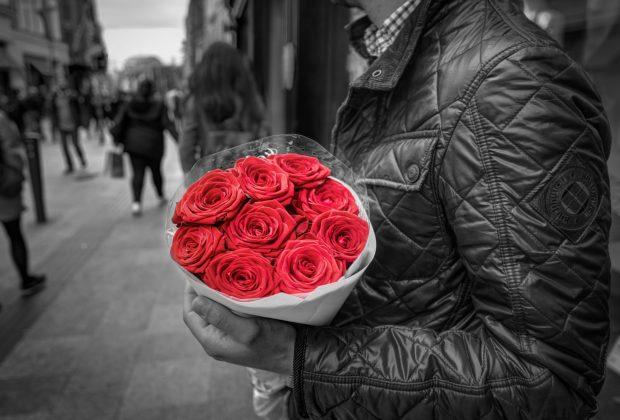 bouquet roses colorful floral 428611