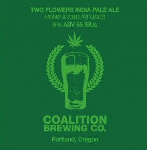 Hemp Infused Beer Two Flowers by Coalition Brewing Cannabis Magazine