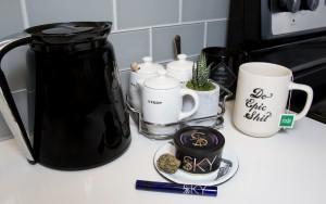 Sky Cannabis and coffee