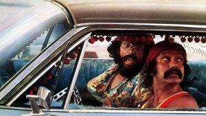 Cheech and chong driving high
