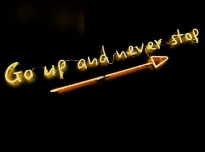 Go up and never stop neon sign Photo credit: Fab Lentz
