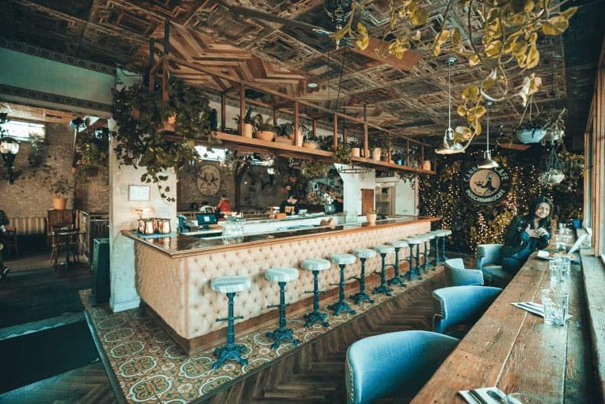 West Hollywood Cannabis Cafe Bar Area